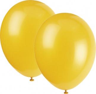 8 Luftballons Metallic Gelb