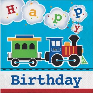 16 Geburtstags Servietten Eisenbahn Party