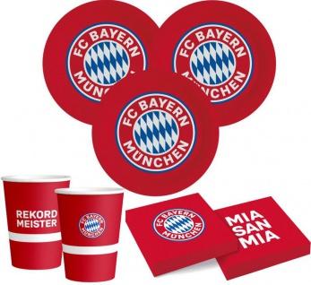 34 Teile FC Bayern München Party Deko Set 6 Personen