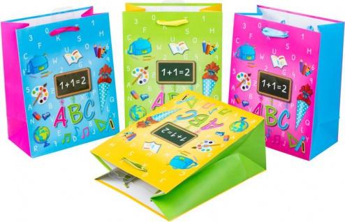 4 Geschenk Tüten zum Schulanfang