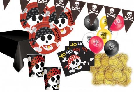 88 Teile Piraten Spaß Party Deko Set 16 Personen