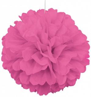 1 großer Papier Dekoball 40 cm in hellem Pink