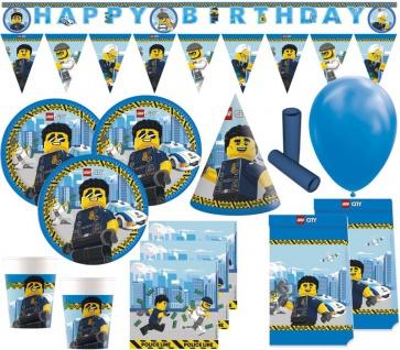 XL 63 Teile Lego City Party Deko Set 6 Kinder