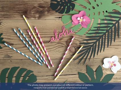 10 Papier Trinkhalme pink weiß gestreift - Vorschau 3