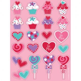 Herz und Cupcake Sticker