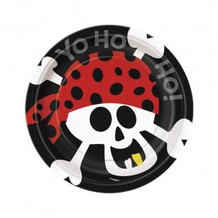 8 kleine Teller Piraten Spaß