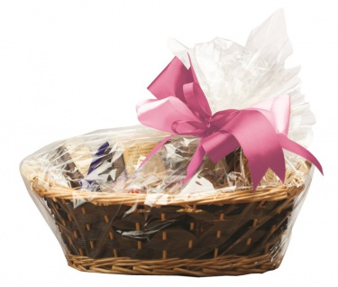 6 Zellophan Tüten für Geschenkkörbe mit Verschlüssen