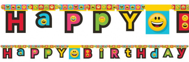 Geburtstags Girlande Emoticons