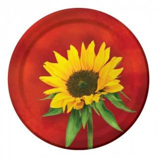 8 kleine Teller Sonnenblume