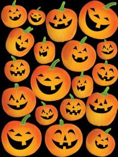 4 Sticker Bogen Halloween Kürbis
