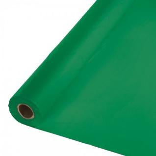 30 Meter Rolle Plastik Tischdecke Smaragd Grün