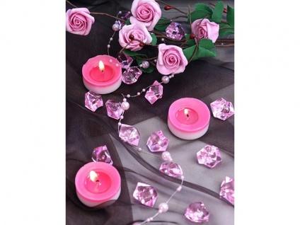 50 Deko Plastik Eis Kristalle rosa - 21 x 25 mm Durchmesser - Vorschau 2