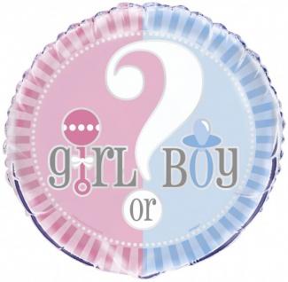 Folienballon Babyparty Junge oder Mädchen?