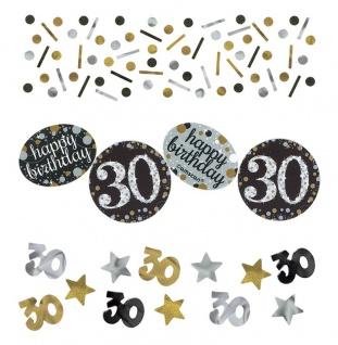 Deko Konfetti 30. Geburtstag in Silber und Gold Glitzer