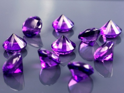 10 Deko Plastik Diamanten lila - 20 mm Durchmesser - Vorschau 2