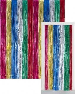 Glitzer Fransen Party Vorhang im bunten Metallic Mix - Fotobox 2, 4 Meter lang