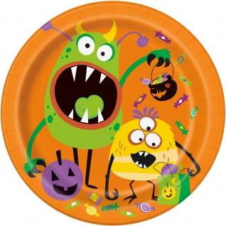 8 Teller kleine Monster Party