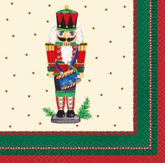16 kleine weihnachtliche Servietten Nussknacker