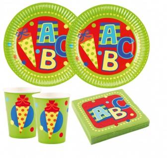 36 Teile Schulanfang Einschulung Party Deko Set für 8 Kinder