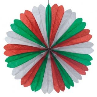 Dekofächer Grün Weiß Rot 60cm