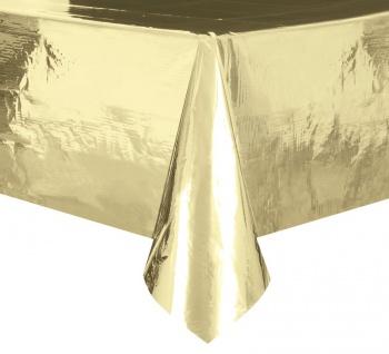 Plastik Tischdecke Gold Glanz Folie