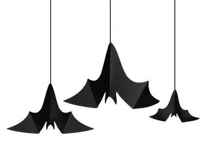 3 hängende Fledermäuse