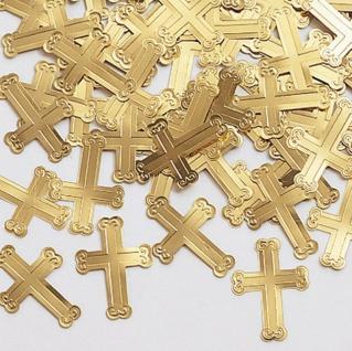 Goldene Kreuze Konfetti