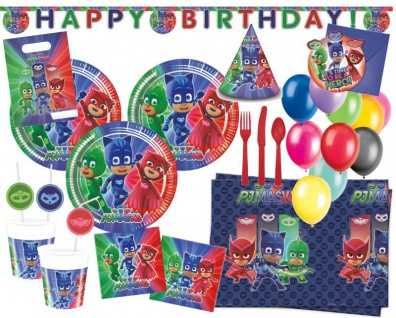 XXL 90 Teile PJ Masks Pyjamahelden Party Deko Set 6 Kinder