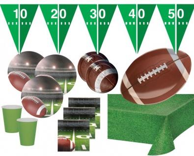 XXL 59 Teile American Football Superbowl Party Deko Set 16 Personen Touchdown