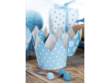 4 Party Krönchen Hellblau + inkl. 4 Aufkleber zum 1. Geburtstag - Vorschau 4