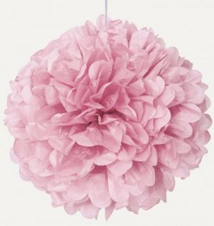 1 großer Papier Dekoball 40 cm Baby Rosa