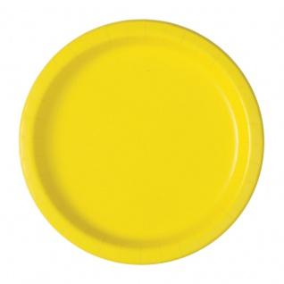 20 kleine Papp Teller Neon Gelb
