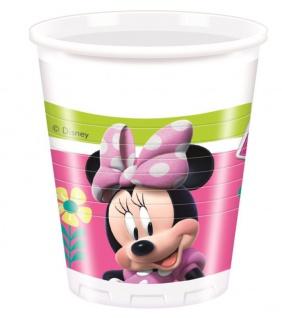 8 Becher Minnie Happy in Pink