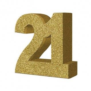29 Teile Set zum 21. Geburtstag oder Jubiläum - Party Deko in Schwarz & Gold - Vorschau 2