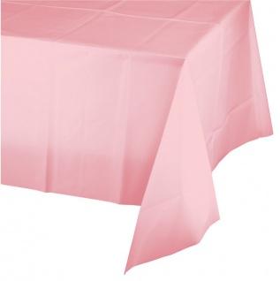 Plastik Tischdecke Pastell Rosa