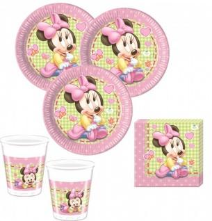 67 Teile Disney Baby Minnie zum Ersten Geburtstag Party Deko Set 16 Personen 1. Geburtstag - Vorschau 2