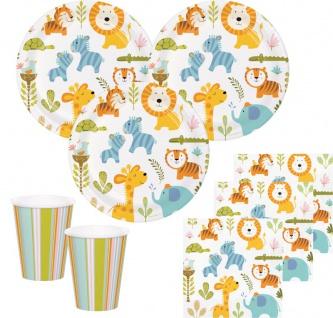 32 Teile Baby Safari Party Deko Set für 8 Personen