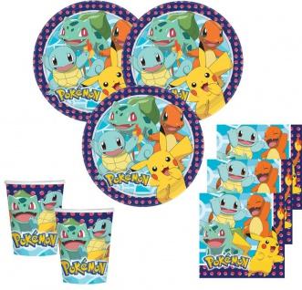 48 Teile Pokemon Party Deko Set für 16 Kinder