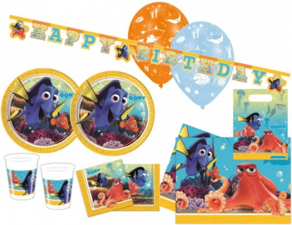 XXL 56 Teile Disney Findet Nemo Party Deko Set - für 8 Kinder