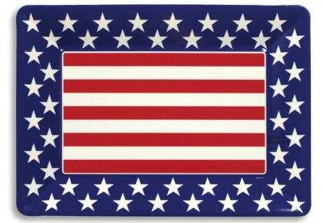 USA großes Servier Tablett