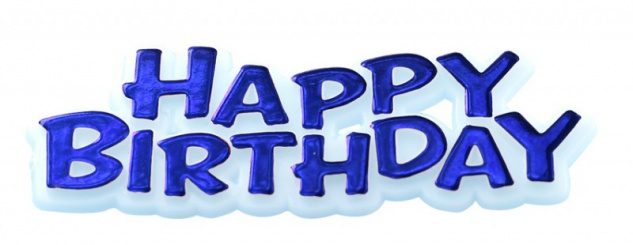 Happy Birthday Pick in Blau