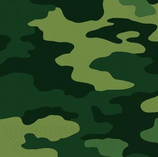 16 Servietten Camouflage grün