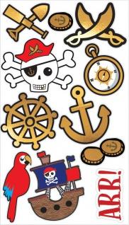 1 Bogen Piraten Kinder Tattoos