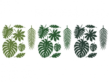 Do it yourself 21 Palmen Blätter Tischdeko Jungle