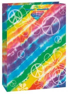 Geschenktüte Regenbogen Hippie Batik Style