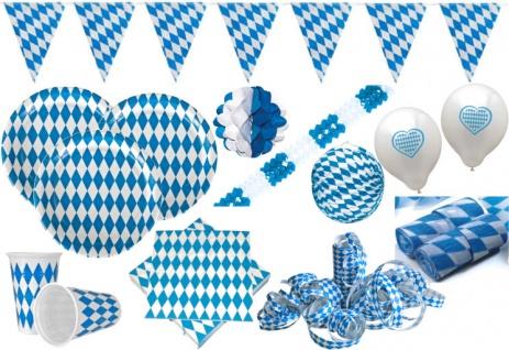 XXL 111 Teile Bavaria Party Deko Set Oktoberfest für 40 Personen - Vorschau 1