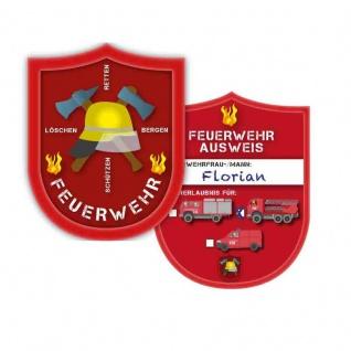 6 Feuerwehrmann/frau Ausweise