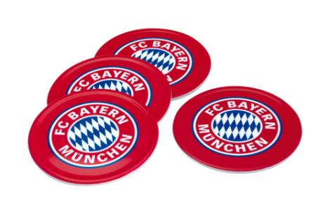 4 Gläser Untersetzer Bayern München