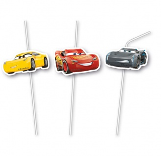 6 Trinkhalme Cars 3