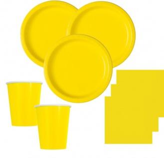 Runde Tischdecke Neon Gelb - Vorschau 2
